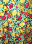 Платье  женское ,зеленое с цветочным принтом , романтик, летнее ,свободного кроя, 48, 50,52, пл-002-3., фото 5