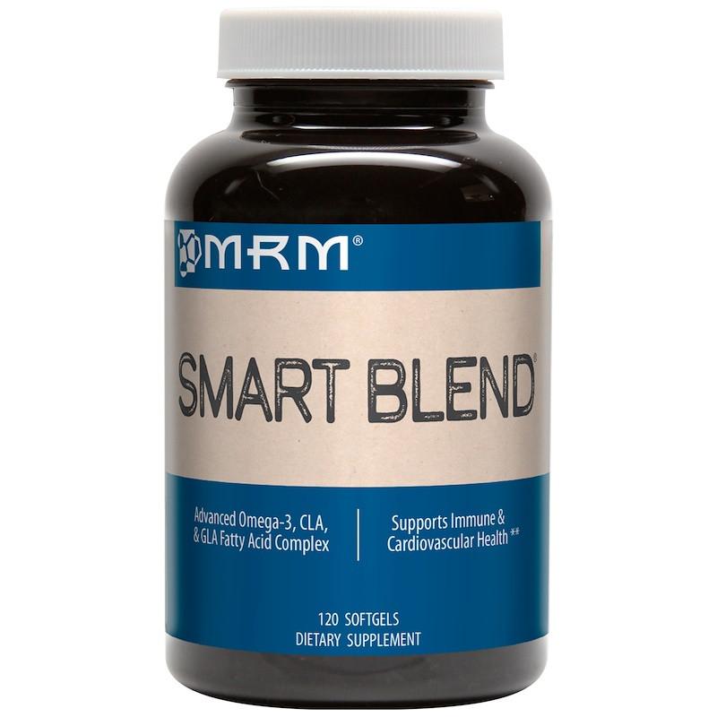 Комплекс жирных кислот омега-3, MRM, Smart Blend, 120 мягких таблеток
