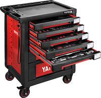 Инструментальная тележка Yato  на колёсах с выдвижными ящиками и 165 инструментом