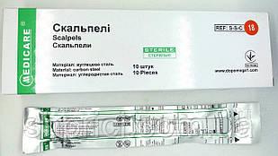 Скальпель одноразовый медицинский № 18/ Medicare, 1 шт.