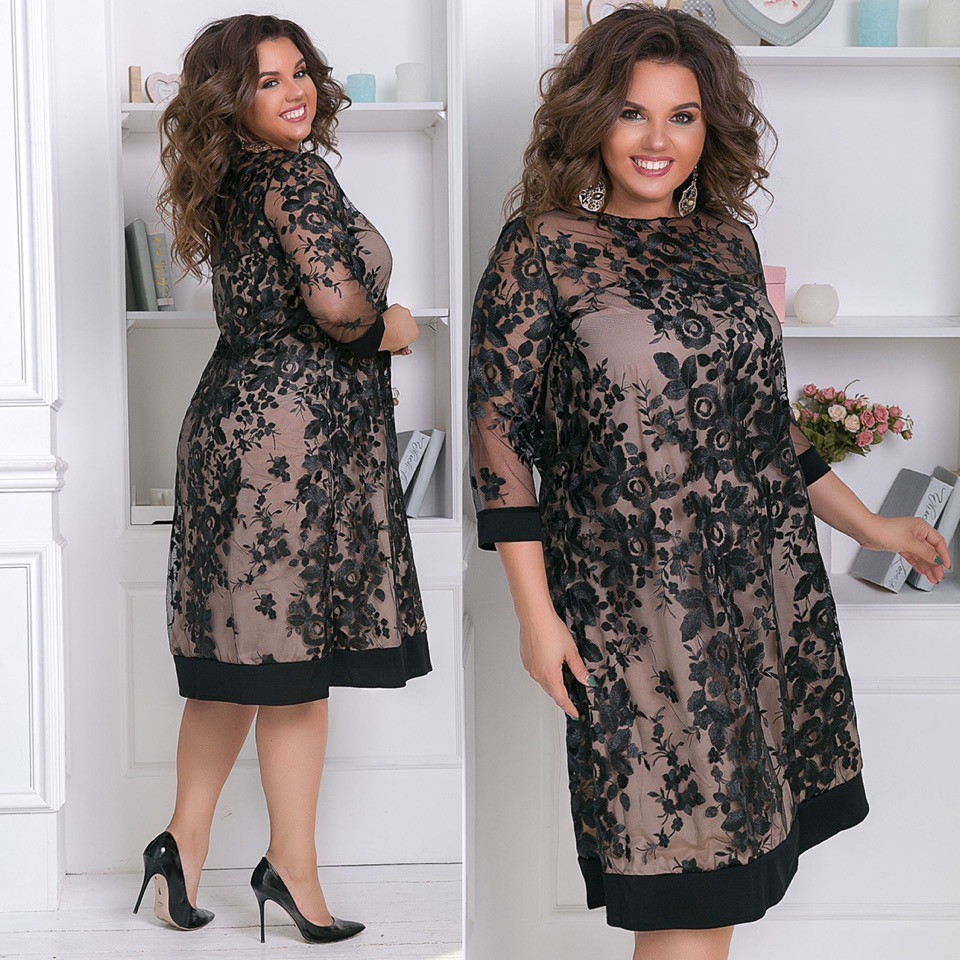 Женское модное платье  ЮС649 (бат)