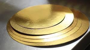 Подложки под торты золото-серебро