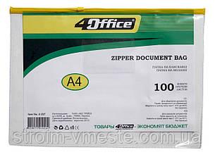 Папка на молнии A4 прозрачная 4OFFICE PVC 4-207