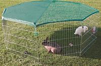 Вольер манеж Trixie для щенков,кроликов,котят металл (6 секций 63х58)с дверью