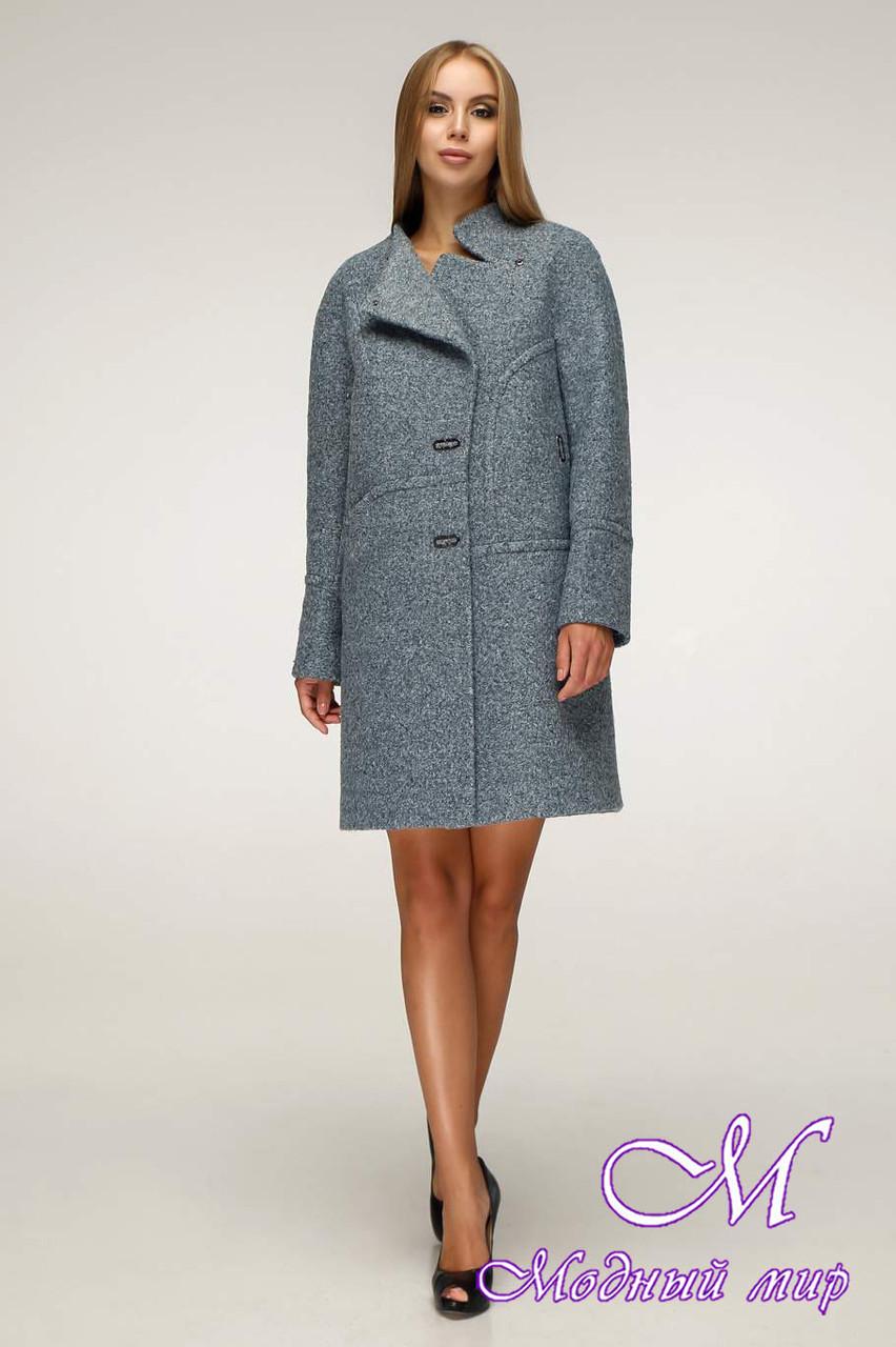 Елегантне жіноче пальто в темних відтінках (р. 44-54) арт. 1222 Тон 1