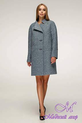 Елегантне жіноче пальто в темних відтінках (р. 44-54) арт. 1222 Тон 1, фото 2