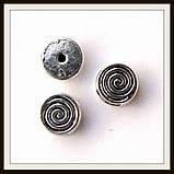 Бусина-рамка для браслетов  спираль мини (диам 0,8  см) 12 шт, фото 2