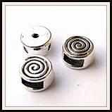 Бусина-рамка для браслетов  спираль мини (диам 0,8  см) 12 шт, фото 3