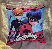 Декоративная детская подушка Леди Баг и Супер Кот