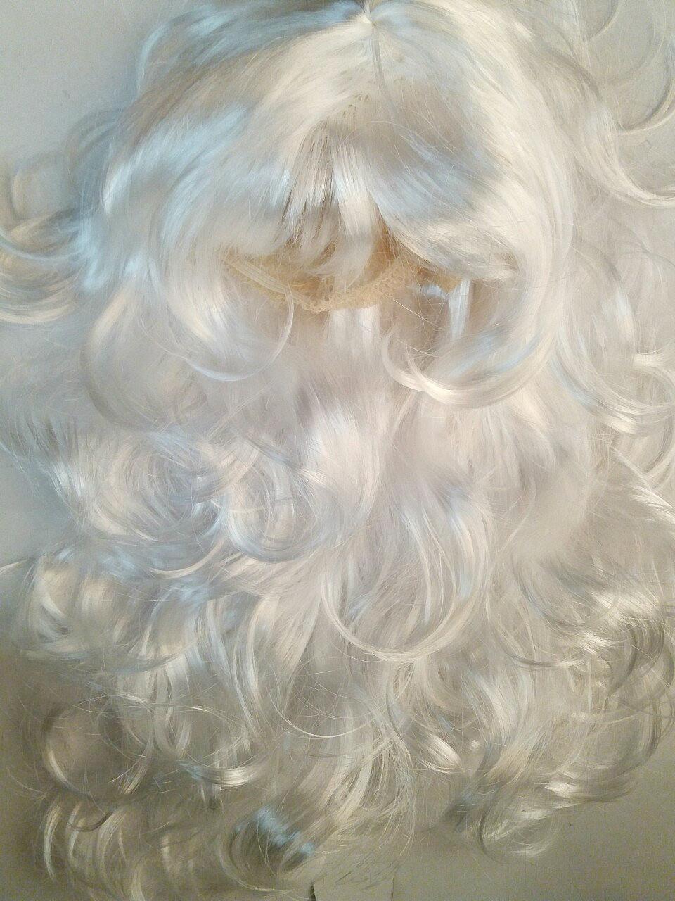 Карнавальный парик белый