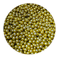 """Посыпка """"Золотые шарики 3 мм."""", 50 гр."""