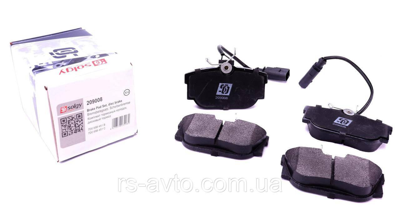 Колодки тормозные (задние) VW T4 90- (с датчиком)
