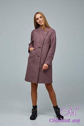 Женское элегантное демисезонное пальто (р. 44-54) арт. 1222 Тон 2, фото 2