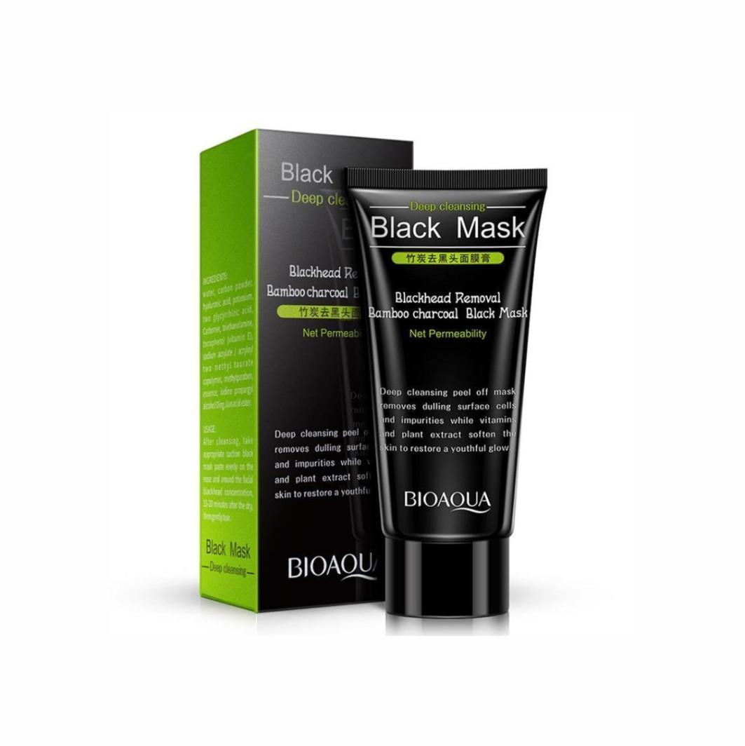 Маска-плівка для видалення чорних крапок Bioaqua Deep Cleansing Black Mask