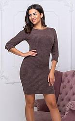 Теплое короткое платье