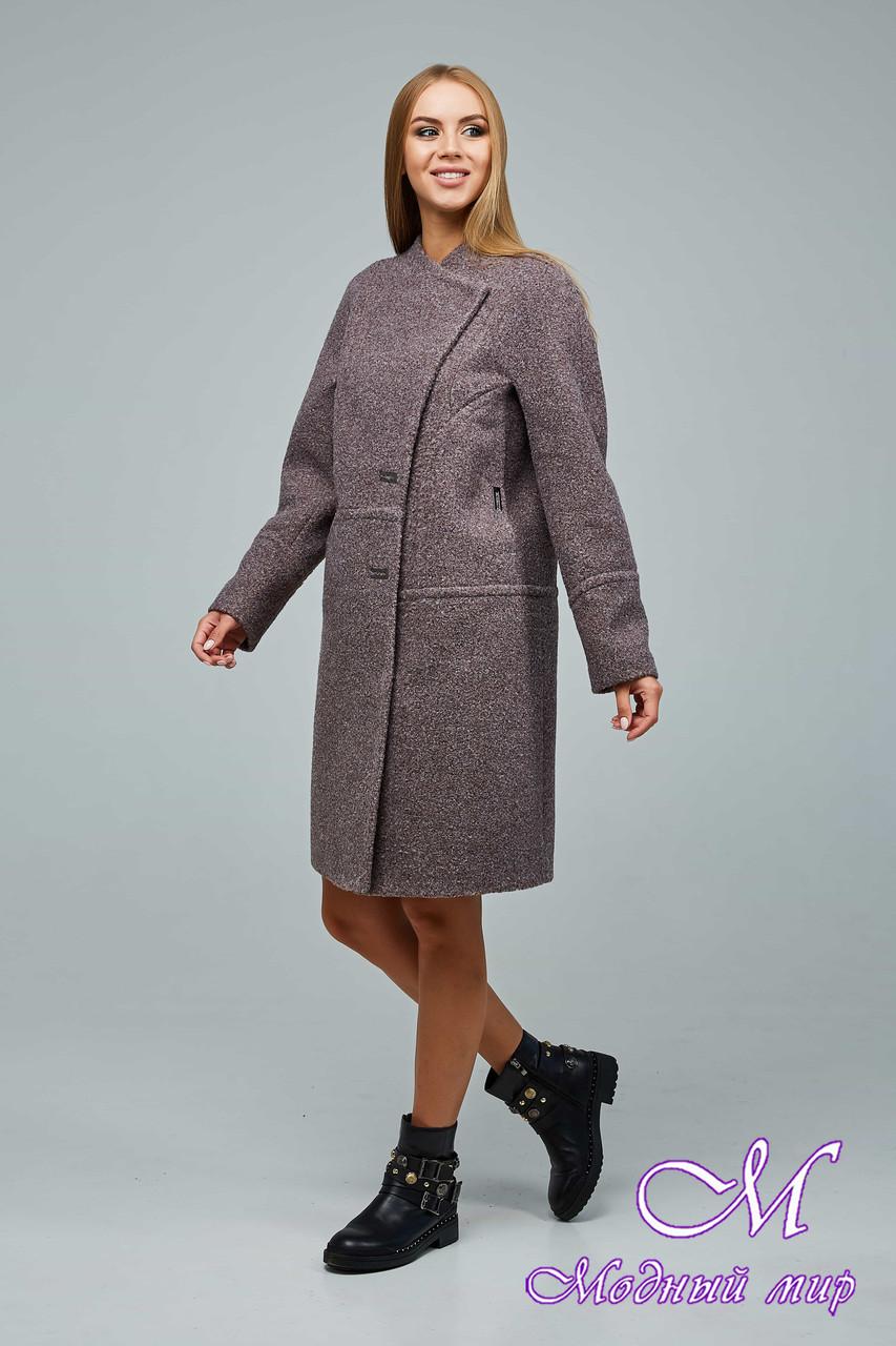 Женское демисезонное пальто из букле (р. 44-54) арт. 1222 Тон 3