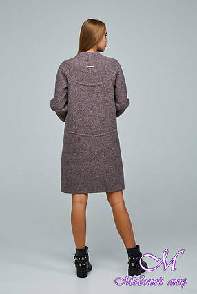 Женское демисезонное пальто из букле (р. 44-54) арт. 1222 Тон 3, фото 2