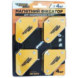 Набір магнітів для зварювання 4шт.Kaiser ПК - 6010 (4 кг)
