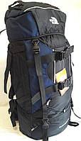 Рюкзак туристический, для походов, отдыха, экспедиций каркасный, The North Face большой 80 литров (A49) Синий