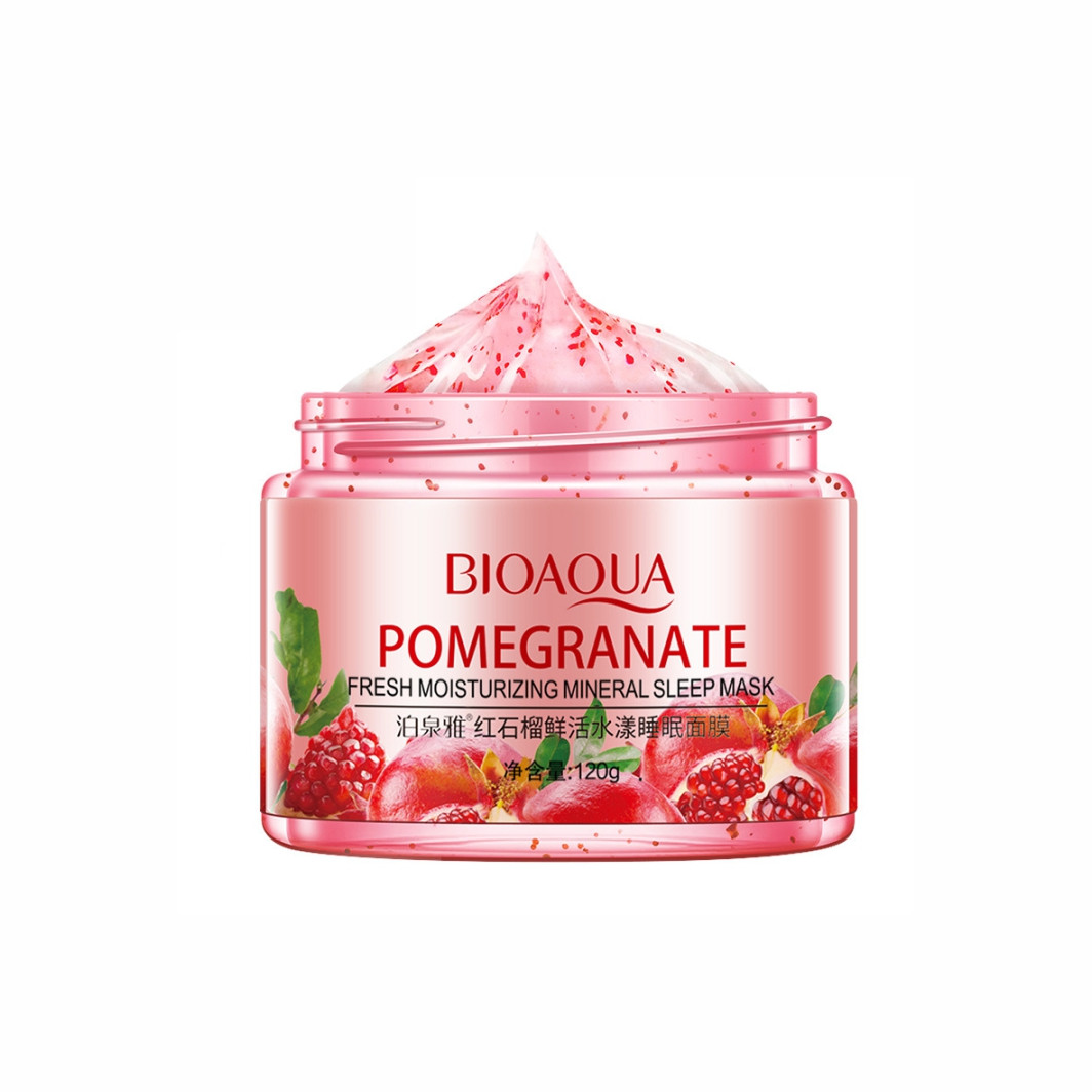 Маска гелева нічна з гранатом Bioaqua Pomegranate Fresh Moisturizing Mineral Sleep Mask