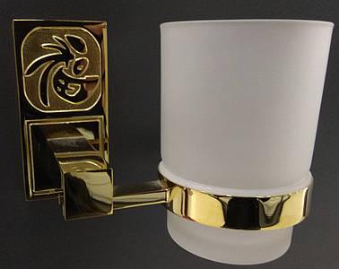 Стакан підвісний скляний  8202 (gold plating)