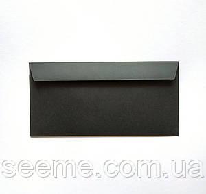 Конверт 220x110 мм, цвет черный, С клеевой основой