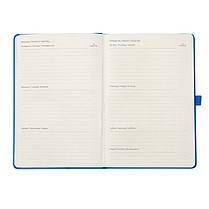 Еженедельник полудатированный Axent Strong 8602-20-07-A, 125*195мм, голубой, фото 3