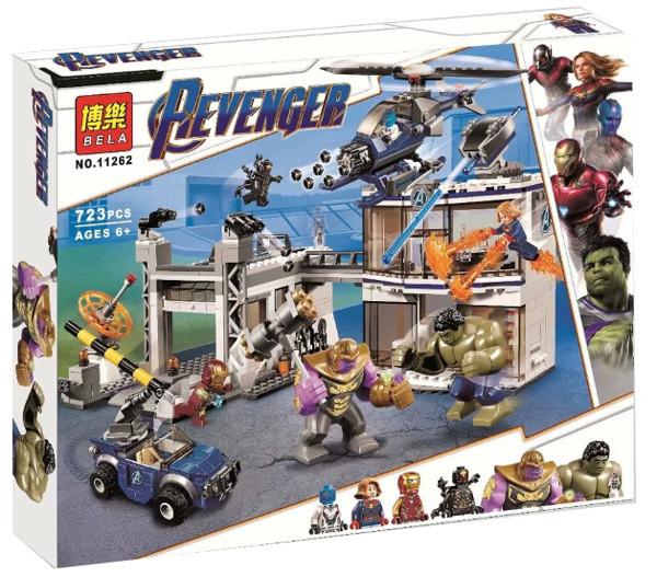"""Конструктор Bela 11262 Super Heroes """"Битва на базе Мстителей"""", 723 деталей. Аналог Lego Super Heroes 76131"""