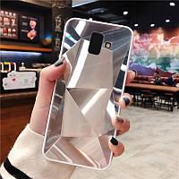 3D Зеркальный Чехол/Бампер для Samsung Galaxy J6 Plus 2018 / J610, Серебро