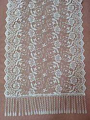 Свадебный шарф (шаль) для невесты белый, венчальный шарф