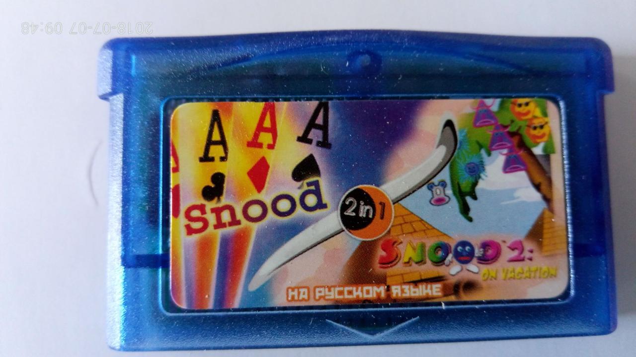 Игровой картридж для GAME BOY ADVANCE GB 2 in 1 SNOOD / SNOOD 2 SNOODSON VACATION