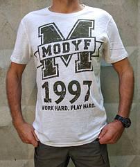 Футболка Modyf Белая c логотипом