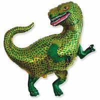 Шарик с гелием фольгированный 82х84см Динозавр Зеленый Тиранозавр