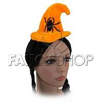 "Обруч ""Капелюшок"", помаранчевий павук, Хелловін, Ободок ""Шляпка"", фото 4"