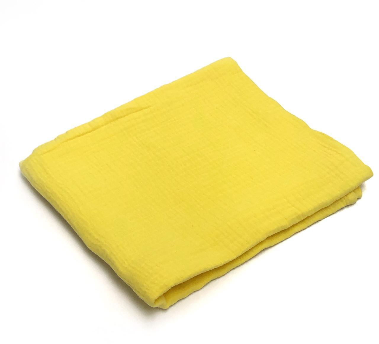 Пеленка муслиновая Жёлтая (100х120 см)
