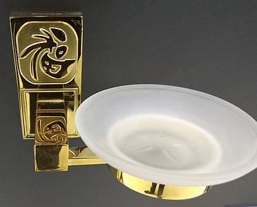 Мильниця підвісна скляна  8201 A (gold plating)