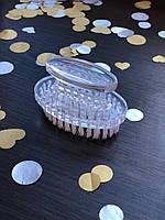 Щетка-сметка для ногтей овальная