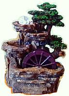 Фонтан мельница подсветка садовый Большой 43 см  насос шар