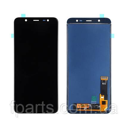 Дисплей для Samsung J810 Galaxy J8 2018 с тачскрином, Black (TFT), фото 2
