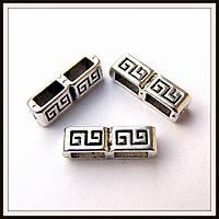 Бусина-рамка для браслетов  двойная (1,5*0,5 см) 15 шт