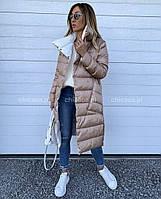 Женская стильная двусторонняя куртка удлиненная Разные цвета