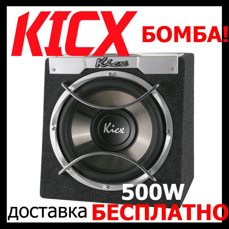 Супер - Сабвуфер  в авто Kicx ICQ-300BA (активный,500/250 Вт)