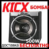 Супер - Сабвуфер в авто Kicx ICQ-300BA (активний,500/250 Вт)