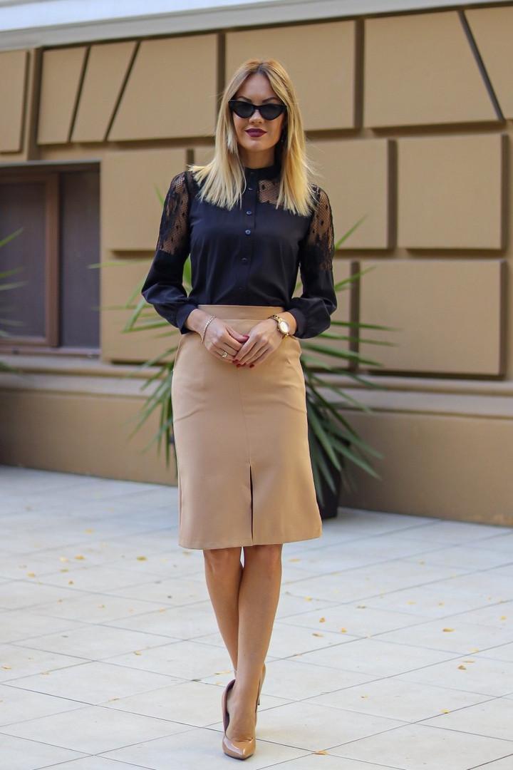 "Офисная юбка-карандаш ""Jacklyn"" с поясом и карманами (4 цвета)"