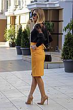 """Офисная юбка-карандаш """"Jacklyn"""" с поясом и карманами (4 цвета), фото 3"""