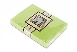 Простынь на резинке трикотажная Nostra 90х200 салатовая, фото 2