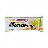 Протеиновый батончик Bombbar, Фисташковый пломбир, 60 грамм, Bombbar