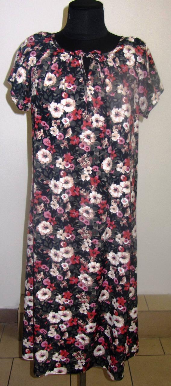 Платье  женское , длинное,летнее ,свободного кроя,ПИСАНКА 48, 50,52, пл 002-5