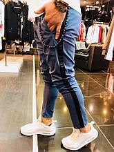 Штаны мужские (брюки) синие open {L}