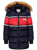 Куртка зимняя на мальчика удлиненная детская подростковая Glo-story рост 158